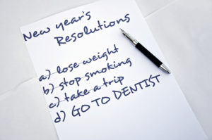 """Go to dentist"" on list of resolutions"